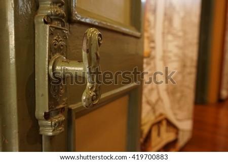 Thai door ancient & Open Blue Door Sunshine Stock Photo 624832211 - Shutterstock Pezcame.Com