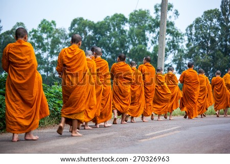 Thai monks in actions