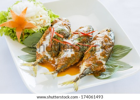 Thai Red Curry with Mackerel