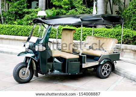 "THAILAND - motorized three-wheelers ""Samlaw"" (Tuk-Tuk) was renamed by the tourists because the engine sounds to be ""Tuk-Tuk"""
