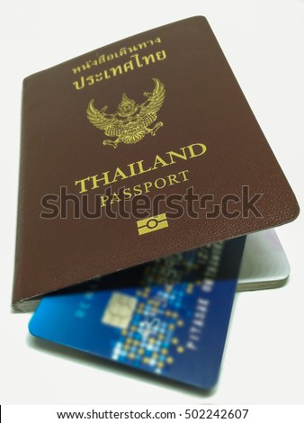 Thailand Passport and Credit card , Ready to go outbound