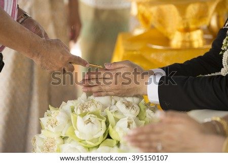 Thailand traditional wedding ceremony Abstract background