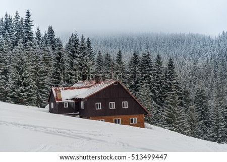 Thamovy boudy, chalet in the national park Krkonose, Czech Republic