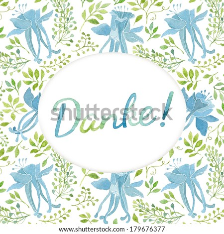 Thank You Card Template Floral Pattern Illustration – Thank You Card Template Word