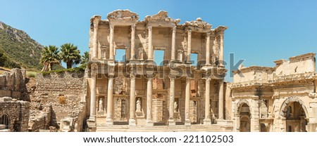 The ancient library of Ephesus in Turkey