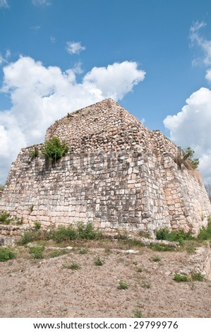 The ancient Mayan ruins of Oxkintok, Mexico