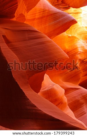 The Antelope Canyon, Page, Arizona, USA.