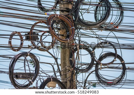 the art of wiring on the electrical pole