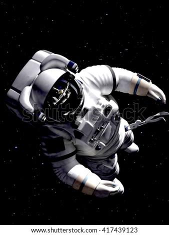 flying astronaut stock illustration 44606998 shutterstock. Black Bedroom Furniture Sets. Home Design Ideas