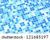 The background of the blue plaid ceramic tiles - stock photo
