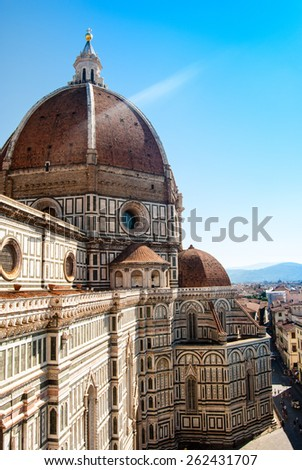 The Basilica di Santa Maria del Fiore (Basilica of Saint Mary of the Flower) in Florence, Italy