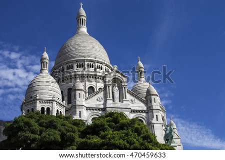 The Basilica of the Sacred Heart. Sacre-Coeur. Paris. France.