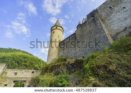 The beautiful and historical Vianden Castle, Luxembourg