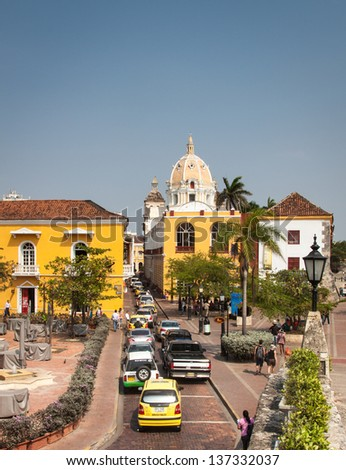 The beautiful city of Cartagene, Colombia