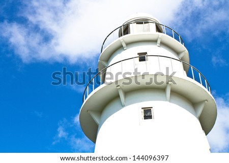 The big lighthouse and blue sky