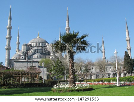 The Blue Mosque (Sultan Ahmed Mosque) built in the early 1600s