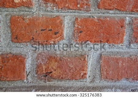 The bricks of an old house