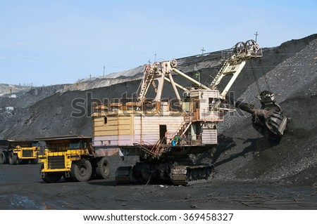 the bucket excavator, mining vehicles, truck, transportation, power, performance, loading, digging, mine