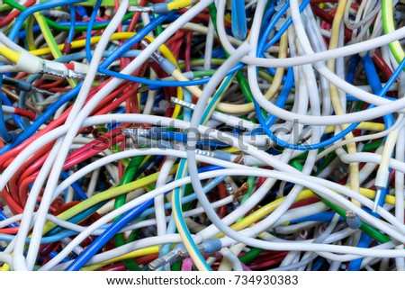 Bunch Electric Wires Different Colors Very Stock Photo 721944955 ...
