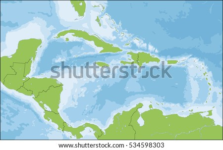 The Caribbean is a region that consists of the Caribbean Sea, its islands and the surrounding coasts.