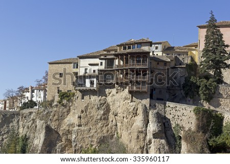 The Casas Colgadas (translated as Hanging Houses), also known as Casas Voladas, Casas del Rey and, erroneusly, Casas Colgantes, is a complex of civil houses located in Cuenca, Spain.