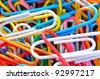 the close up of colorful clips - stock photo