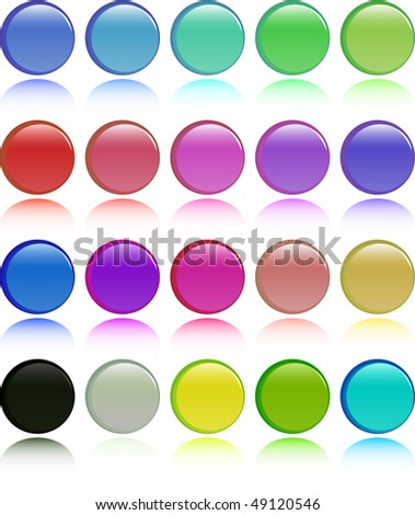 the color raster button set (vector version in portfolio)