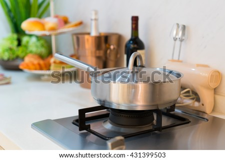 the cooker in a kitchen
