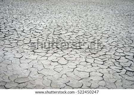 The cracked ground, Ground in drought, Soil texture and dry mud, Dry land using for Dry and hot land background