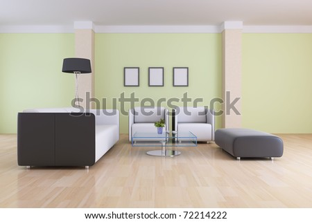 The 3d rendering indoor sitting room