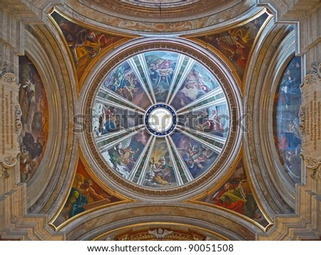 The Dome of the Church of St Ignatius, Rome