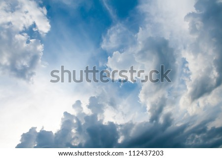 the dramatic sky with clouds