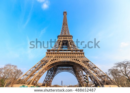 The Eiffel Tower in Paris,France