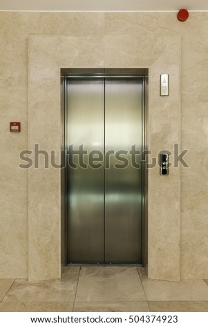 the elevator door in building