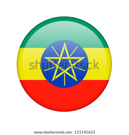 The Ethiopia flag in the form of a glossy icon.