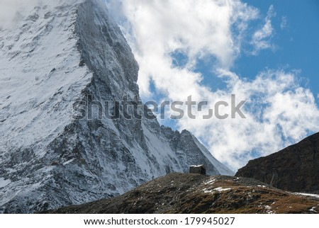 The faces of Matterhorn and the Hörnli Ridge