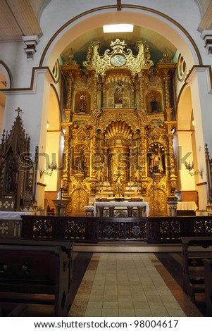 The Famous Golden Alter In The Church Of San Jose, Casco Viejo, Panama City