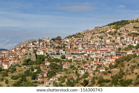 The famous resort town of Arachova, Boeotia, Greece