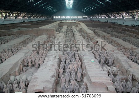 The famous terracotta warriors of XiAn, China
