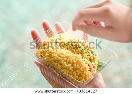 Neon Fish Stock Shutterstock #0: stock photo the food on the street is a great choice there are fish dishes and sweet food this is an example