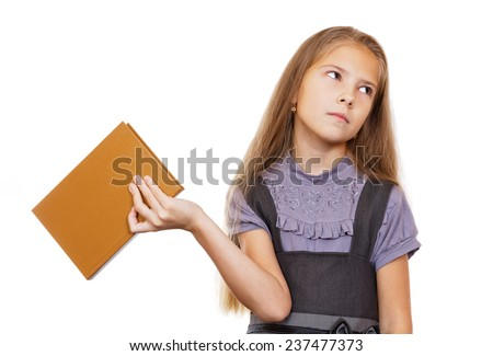 The girl does not want to read a book