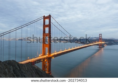 The Golden Gate Bridge. San Francisco. California.