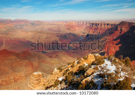 The Grand Canyon National Park with Snow in the Foreground