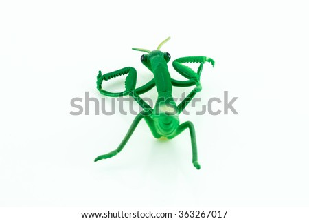 The green mantis toy model.