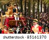 THE HAGUE, HOLLAND - SEPT 20: driver of  the golden carriage with Queen Beatrix and Princess Maxima on Prinsjesdag (opening of parliamentary year by Queen) on September 20, 2011 in The Hague, Holland. - stock photo
