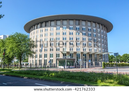 The Hague, Netherlands - May 9th 2015 - The Organisation for the Prohibition of Chemical Weapons building in The Hague, Netherlands.