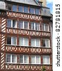 The half-timbered buildings of historic Rennes, Brittany, - stock photo
