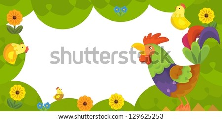 The happy easter frame - illustration for the children