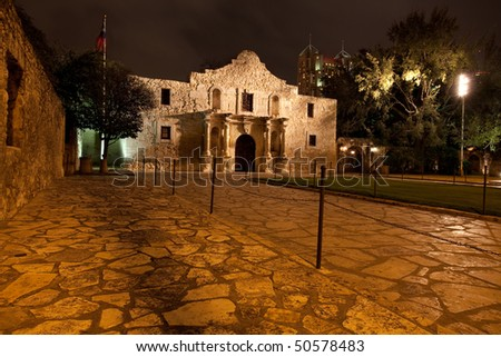 The historic Alamo mission in San Antionio Texas, site of the battle of the Alamo for Texas independence in 1836