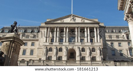 The historical building of the Bank of England, London, UK